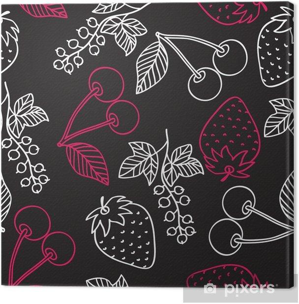 Obraz na płótnie Soczysty wzór jagody - Jedzenie
