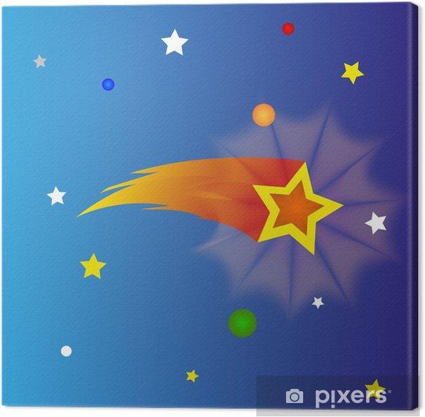 Obraz na płótnie Spadająca gwiazda - Przestrzeń kosmiczna