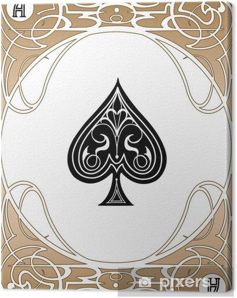 Obraz na płótnie Spade Ace karty - Rozrywka