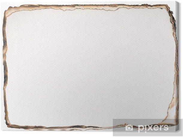 Obraz na płótnie Spalony papier tle na białym tle. - Sprzedaż