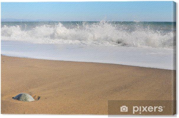 Obraz na płótnie Spieniona fala - Woda