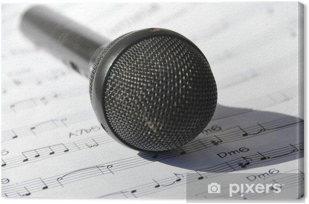 Obraz na płótnie Śpiewać - Muzyka