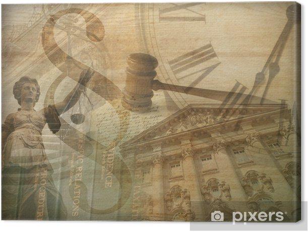 Obraz na płótnie Sprawiedliwości collage - iStaging