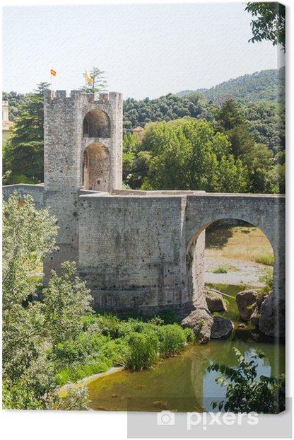 Obraz na płótnie Średniowieczny most z wieży bramy - Europa