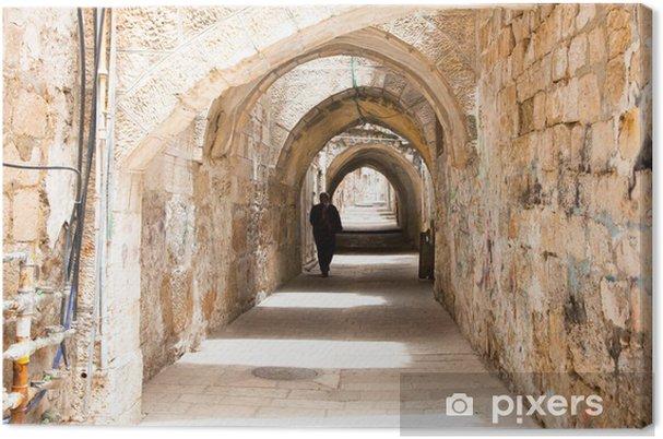 Obraz na płótnie Sreet of Jerusalem Old City Alley wykonane z ręcznie wygiętych stones - Tematy