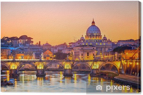 Obraz na płótnie St. Katedra Piotra w nocy, Rzym -