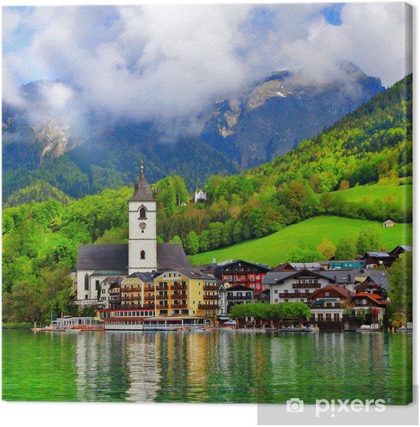 Obraz na płótnie St Wolfgang Jezioro - piękne alpejskie jezioro w Austrii - Europa