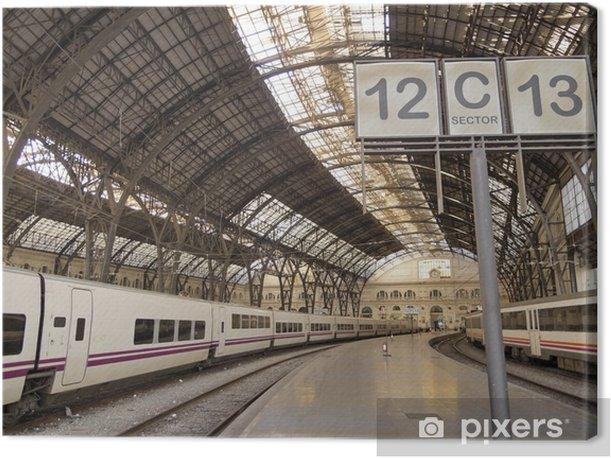 Obraz na płótnie Stacja kolejowa. Barcelona. - Kolej
