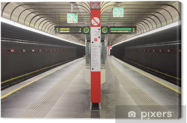 Obraz na płótnie Stacja metra z dwóch napastników w Wiedniu, Austria - Europa