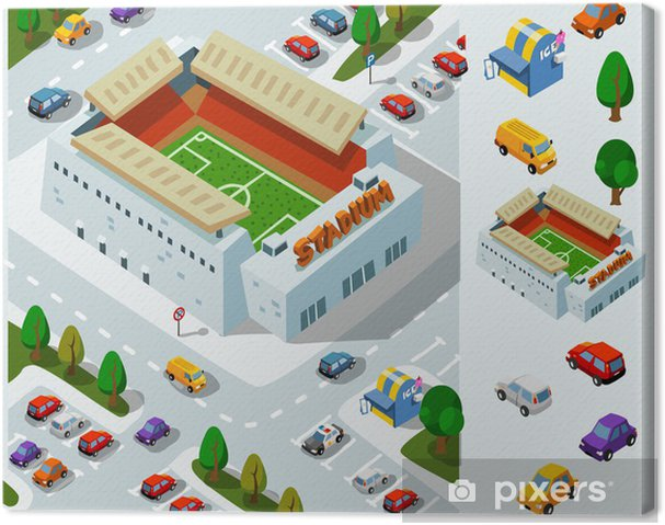 Obraz na płótnie Stadion Soccer Izometryczny Vector - Ekologia