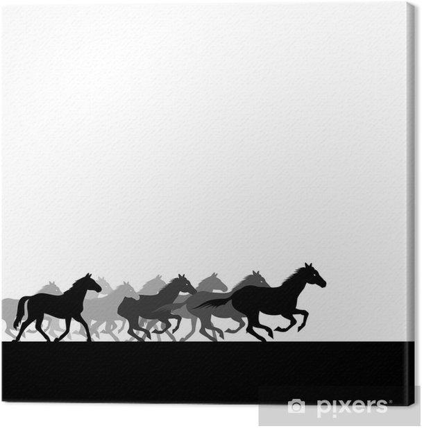 Obraz na płótnie Stado koni - Ssaki