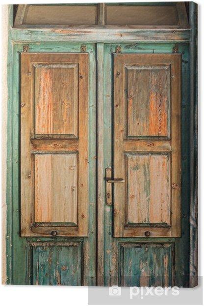 Obraz na płótnie Stare drewniane drzwi -