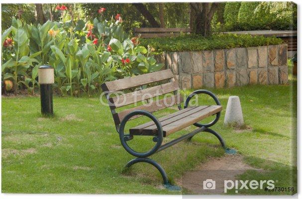 Obraz na płótnie Stare drewniane ławki - Azja
