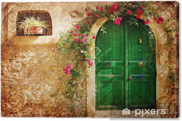 Obraz na płótnie Stare greckie drzwi - obraz w stylu retro - Tematy