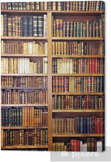 Obraz na płótnie Stare książki, biblioteki - Biblioteczka