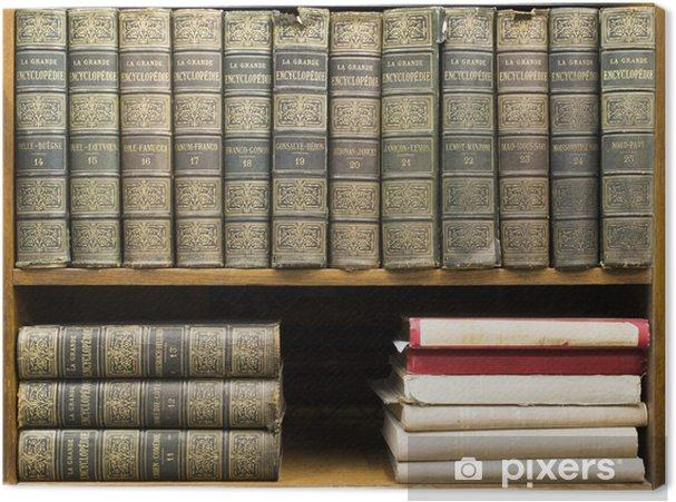 Obraz na płótnie Stare książki na półce - Biblioteczka
