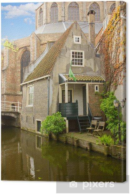 Obraz na płótnie Stare Miasto Delft, Holandia - Pejzaż miejski