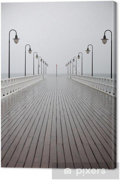 Obraz na płótnie Stare molo w deszczu na Morze Bałtyckie Gdynia Orłowo - Tematy