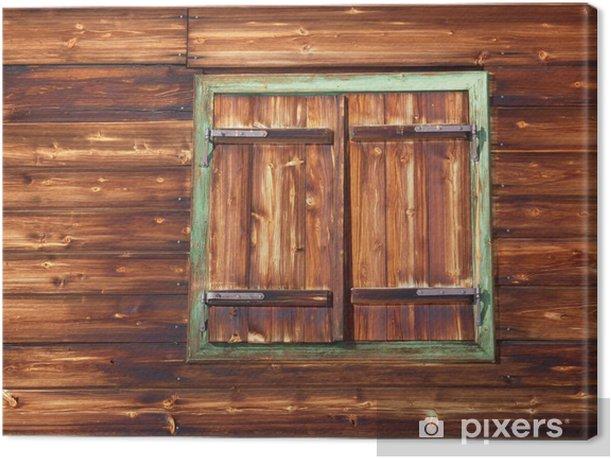 Obraz na płótnie Stare okna drewniane w uroczej Ski Lodge - Wakacje