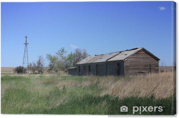 Obraz na płótnie Stare ranczo z wiatraka i starej stodole nie używany. - Pory roku