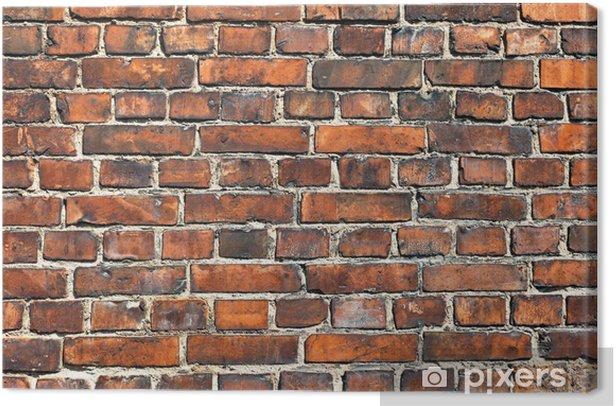Obraz na płótnie Stare wyblakły czerwony mur ceglany jako tło - Tekstury