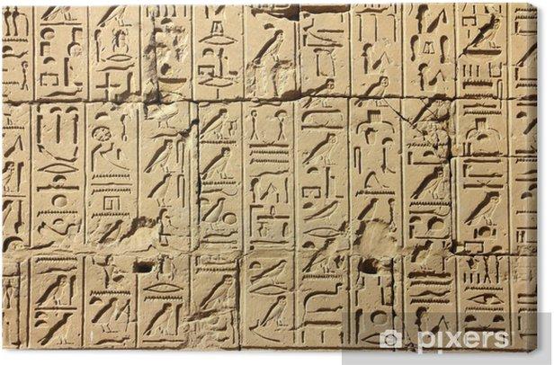 Obraz na płótnie Starożytne hieroglify w świątyni Karnak egiptu - iStaging