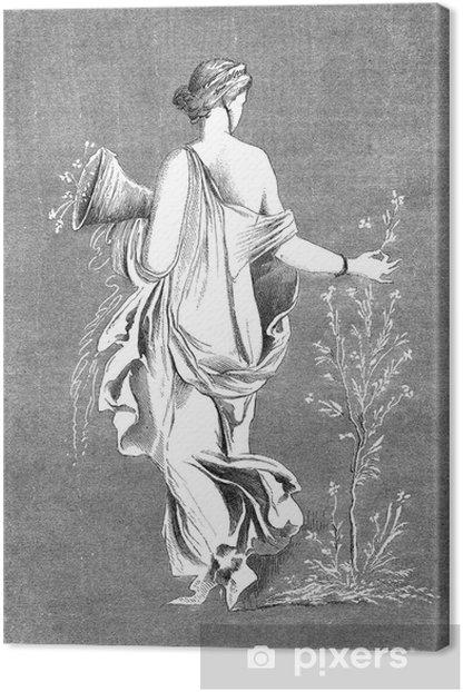 Obraz na płótnie Starożytny Rzym: Flora (roślinność bogini) - Kobiety