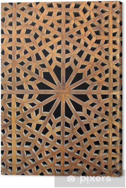 Obraz na płótnie Stary drewniany Latticework - Bliski Wschód