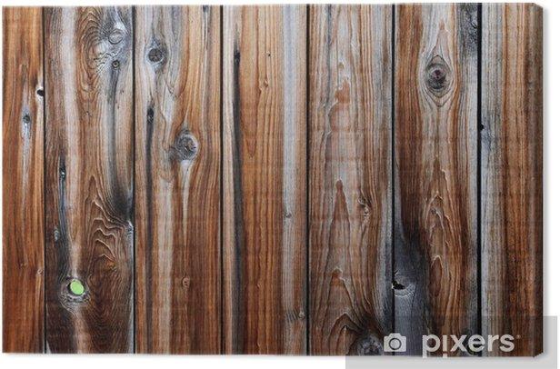 Obraz na płótnie Stary drewniany płot - Tekstury