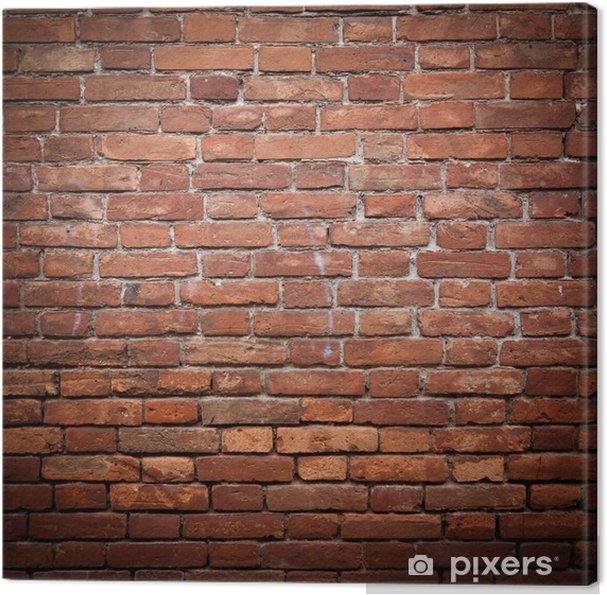 Obraz na płótnie Stary grunge tekstury ściany z czerwonej cegły - Tematy