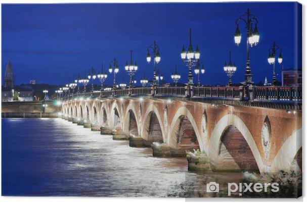 Obraz na płótnie Stary kamienny most w Bordeaux, Francja - Tematy