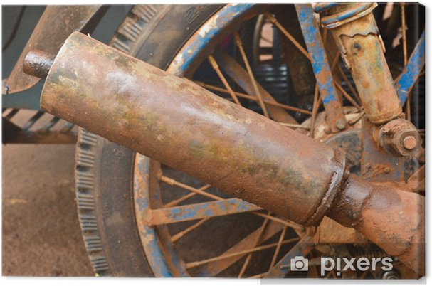 Obraz na płótnie Stary motocykl spalin - Transport drogowy