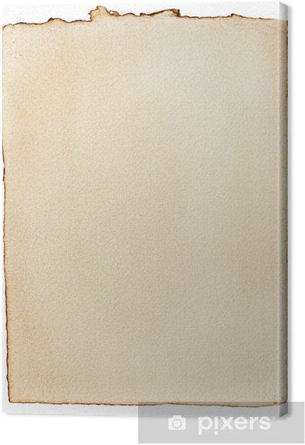 Obraz na płótnie Stary pożółkły papier - Tekstury