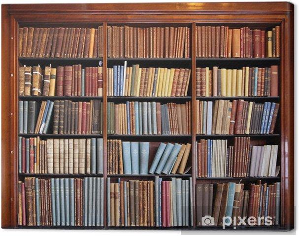 Obraz na płótnie Stary regał biblioteczny - Biblioteczka