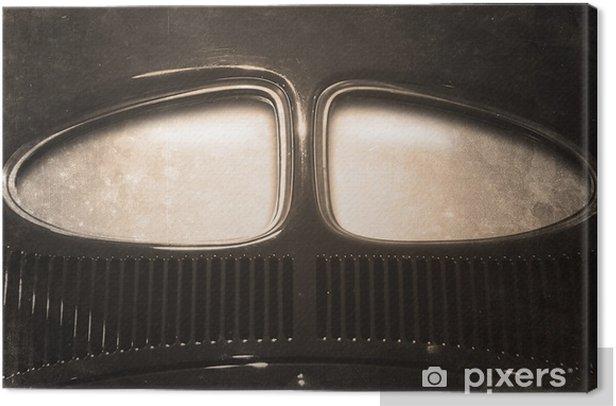 Obraz na płótnie Stary samochód retro z copyspace okno - Transport drogowy