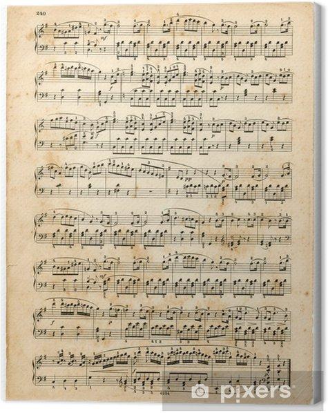 Obraz na płótnie Stary wynik muzyczne - Tekstury