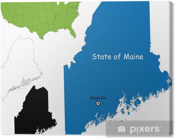 Obraz na płótnie State of Maine, USA - Ameryka