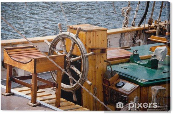 Obraz na płótnie Statek koło kierownicy - Transport wodny