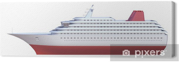 Obraz na płótnie Statek na białym tle - Transport wodny