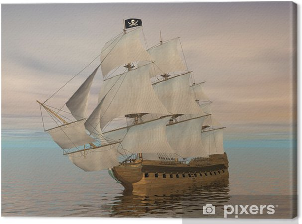 Obraz na płótnie Statek piracki - 3D render - Tematy