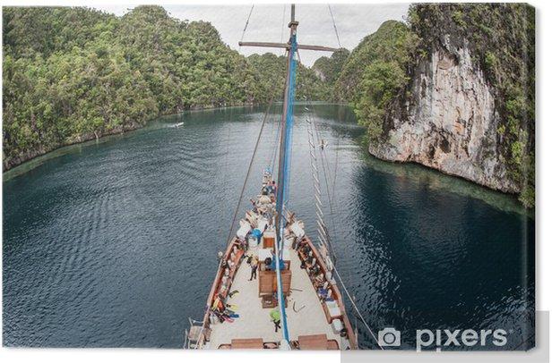 Obraz na płótnie Statków i tropikalne wyspy - Azja