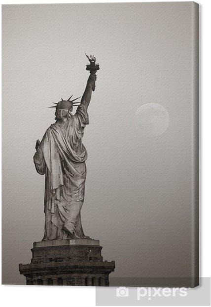 Obraz na płótnie Statua wolności i Księżyca - Budynki i architektura
