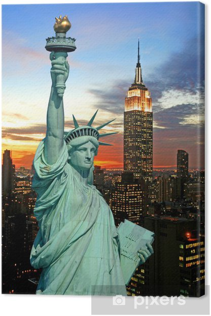 Obraz na płótnie Statua Wolności i New York City Skyline - Tematy
