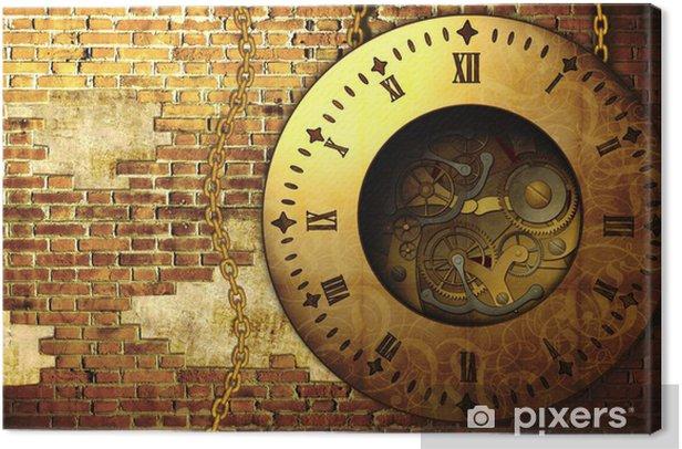 Obraz na płótnie Steampunk zegar - Steampunk