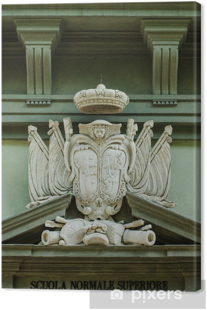 Obraz na płótnie Stemma Famiglia nobile, fregio, scultura, Piza - Zabytki