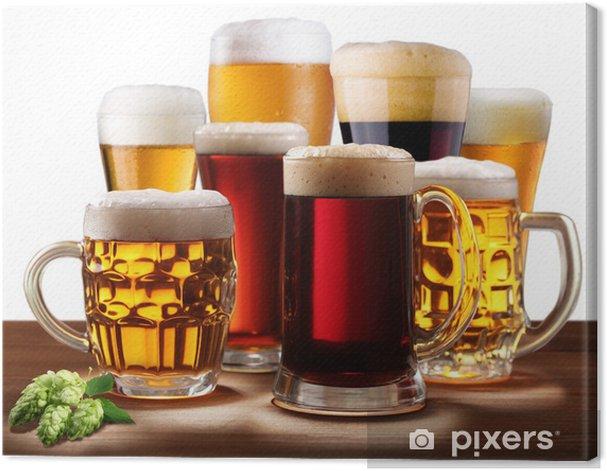 Obraz na płótnie Still-life z szklanki piwa. - Posiłki