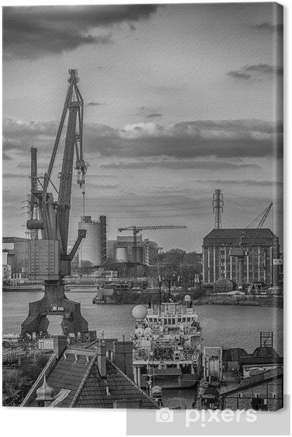 Obraz na płótnie Stoczniowy dźwig w mieście Gdansk, Poland - Tematy