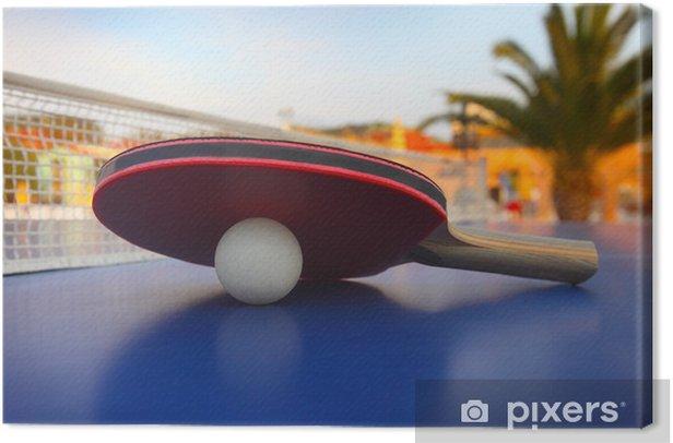 Obraz na płótnie Stół do ping-ponga w luksusowym hotelu - Sporty indywidualne