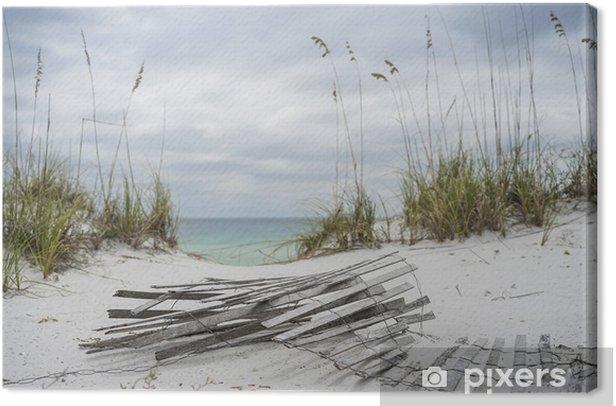 Obraz na płótnie Stormy krajobraz na plaży w zimie - Wyspy