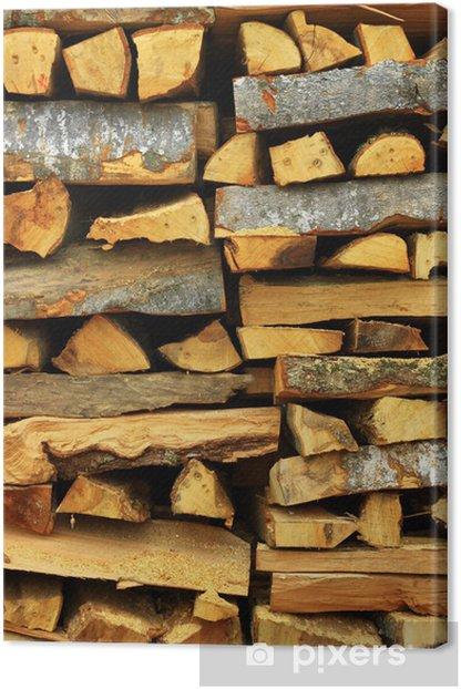 Obraz na płótnie Stos drewna - Drzewa